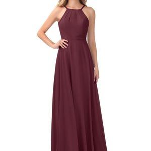 "Azazie ""Melinda"" bridesmaid dress in Cabernet"